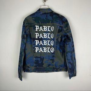 Levi's x Kanye West Pablo Camouflage Denim Jacket